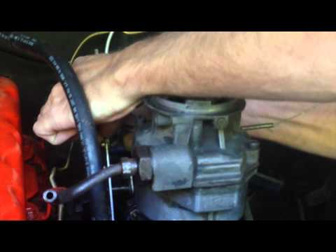1968 Chevy C10 inline 6 250 Rochester 1 barrel carburetor removal