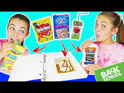 DIY Edible School Supplies 2019 | Sneak Food Into Class | Back To School