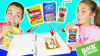 DIY Edible School Supplies 2019 | Sneak Food Into Class | Back To School
