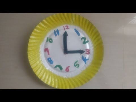 DIY wall clock with paper plate |easy  Kids crafts ideas | kids school projects |