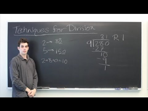 Techniques for Division : Mathematics: Division & More