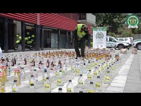 En el barrio Belén de Medellín allanaron vivienda donde se vendía licor adulterado