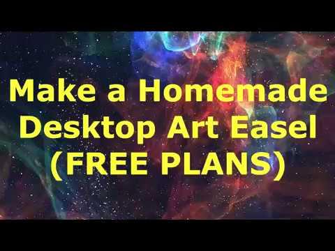 Make a Homemade Desktop Art Easel (FREE PLANS)