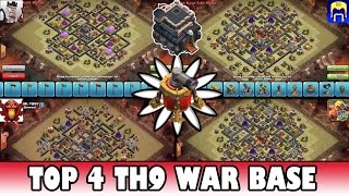 Clash of Clans | TOP 4 Town Hall 9 (Th9) Clan War Base (Air Sweeper) | Quad Base Vs Base