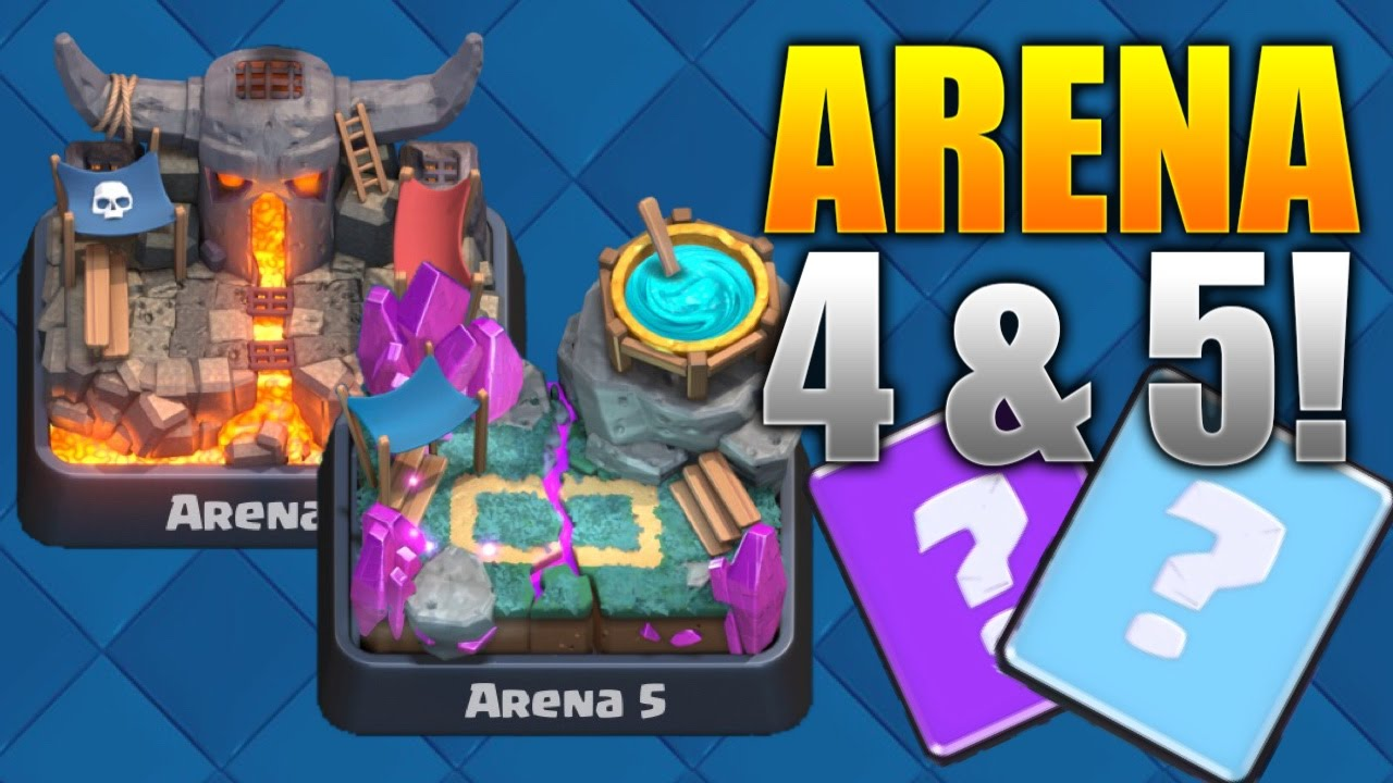 "Clash Royale ""WIN EVERY TIME!"" Arena 4 & 5 Deck Strategy! BEST Level 4 ..."