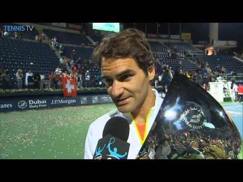 Roger Federer Dubai 2015 Final Interview