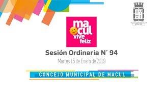 Concejo Municipal de Macul N° 94 / 15-01-2019