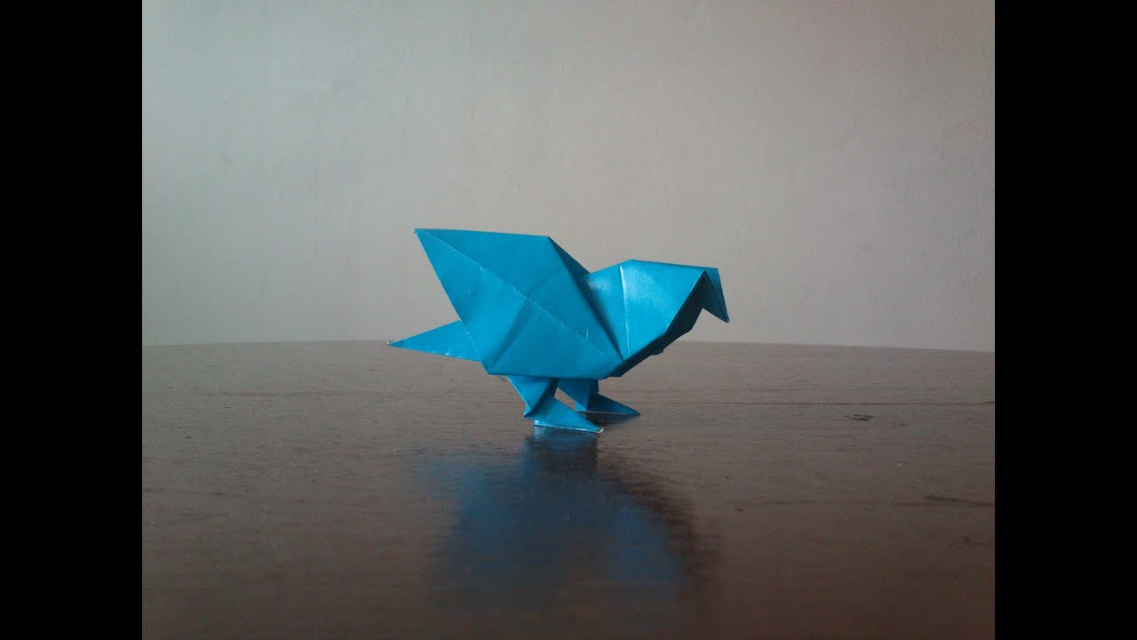 Lets make origami pigeon youtube jeuxipadfo Image collections