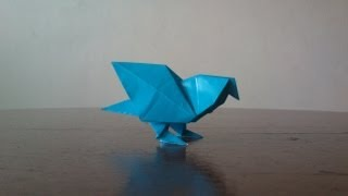 Let's make origami pigeon!