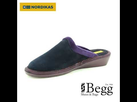 c39be73b05c52 Nordikas Musue 234-8 Navy suede slipper mules - YouTube