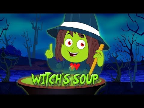 Ведьма суп   Хэллоуин рифмы   страшные песни   Baby Music   Scary Rhymes For Kids   Witch Soup