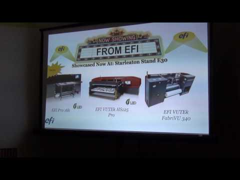 EFI Press Conference at PacPrint May 2017 (Melbourne, Australia)
