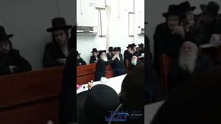 Amshenover Rebbe Conducting Yahrtzeit Tish For R'Itzikel Vorker - Nissan 5781