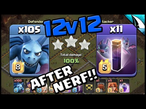 *NO WAY* 105 Minions + 11 Bat Spells | After Nerf!! | 12v12 | Clash Of Clans