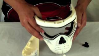 Tactical Mask Forehead and Visor Installation Removal and Installation