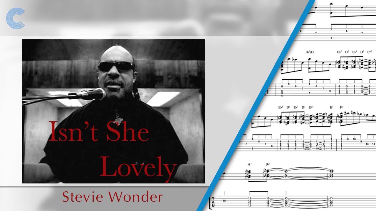 Acoustic Guitar Isnt She Lovely Stevie Wonder Sheet Music