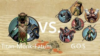 Shadow Fight 2 Titan-Monk-Fatum vs Gates Of Shadows