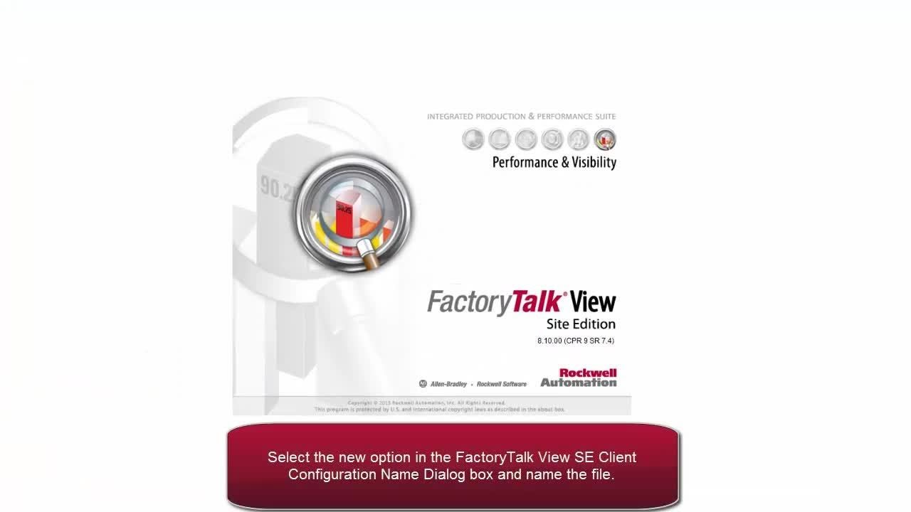 Creating A Factorytalk View Se Client Youtube border=