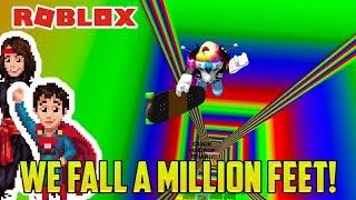 WE FALL DOWN A MILLION FEET. (Roblox)