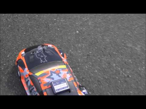 1/8 Exceed RC Mad Drift speed run with...