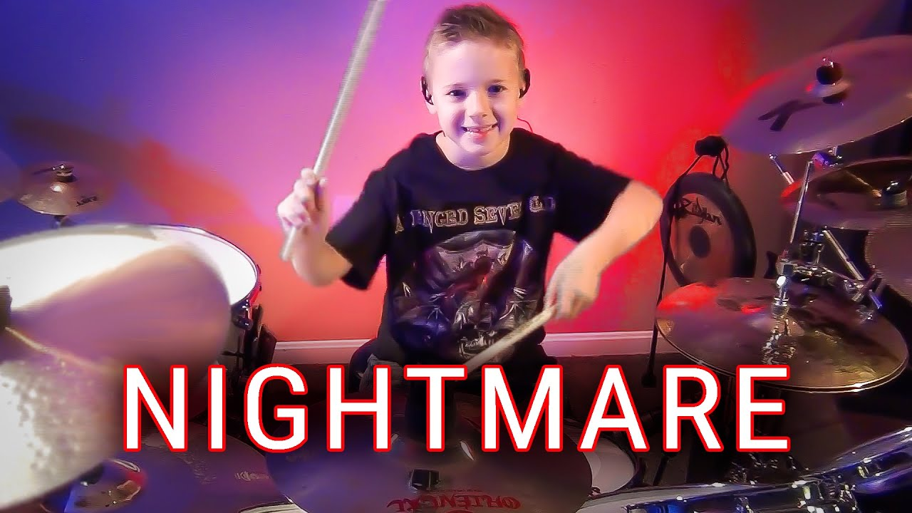 NIGHTMARE - A7X (7 yr old drummer) Cover by Avery Drummer