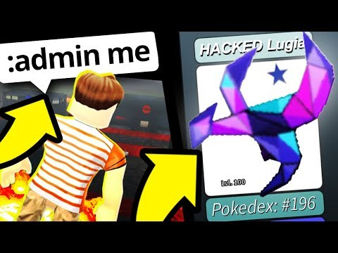 ADMIN COMMANDS in Hacked Project Pokemon! (Roblox Pokemon)