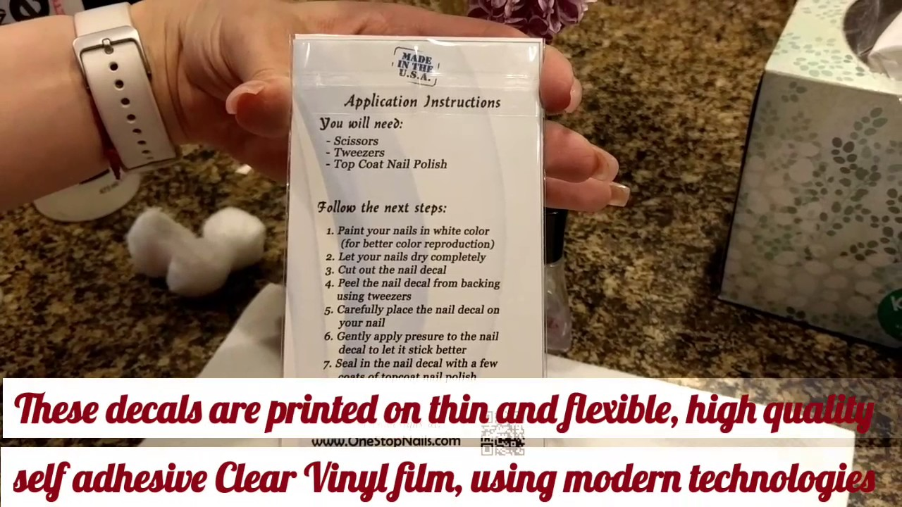 Application Instructions For Clear Vinyl Peel And Stick Nail - How to make vinyl decals stick better