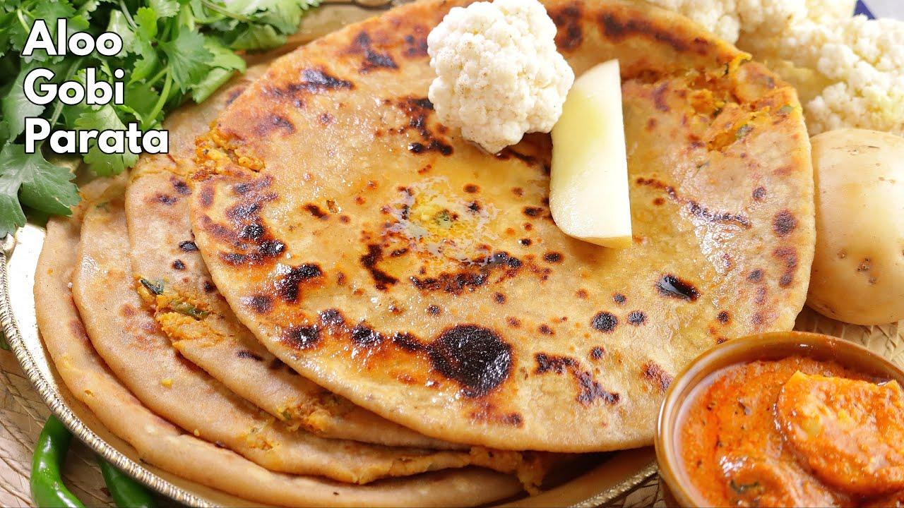 బెస్ట్ ఆలూ గోబీ పరాట | Best Aloo gobi (cauliflower) paratha recipe in Telugu at home  | @Vismai Food