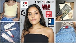 NYC HAUL // glossier, brandy, uniqlo, muji & thrift stores