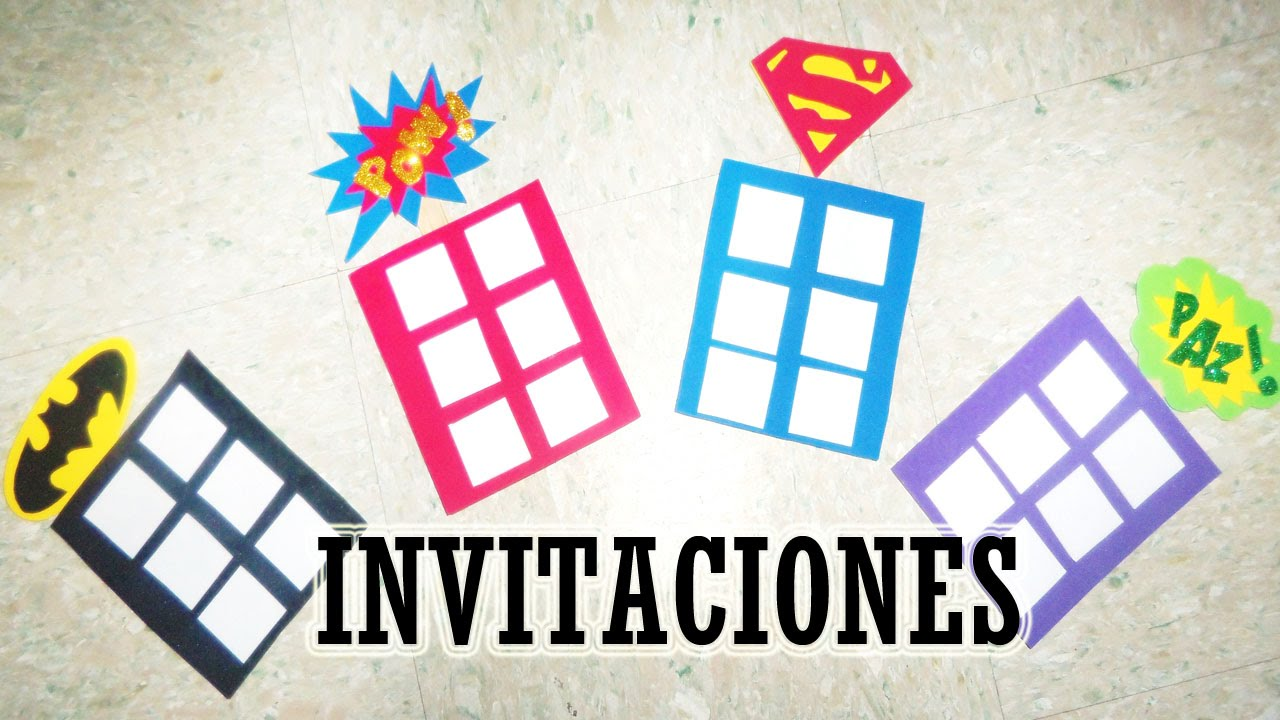 Invitación Para Fiesta De Superheroes Moldes Combo 1