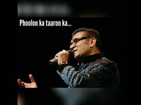 Phoolon ka taron ka - Abhijeet Bhattacharya