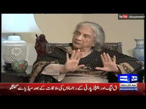 Nuqta e Nazar 25 April 2016 - Munira Bano, Allama Iqbal Daughter - Dunya News