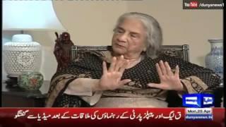Nuqta e Nazar 25 April 2016 - Munira Bano, Allama Iqbal Daughter - Dunya News