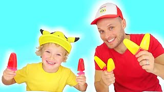 Lev and Dad came up with a new game for children's song Color Song