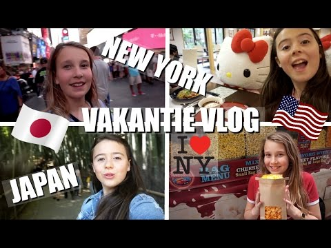 HELLO KITTY FOOD IN JAPAN PROEVEN EN EIGEN GIRLY M&M'S UIT NEW YORK? | VAKANTIE VLOG