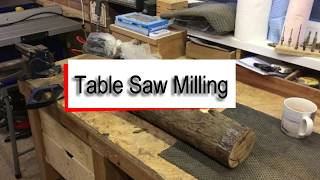 Mill Free Timber from Logs using your Table Saw