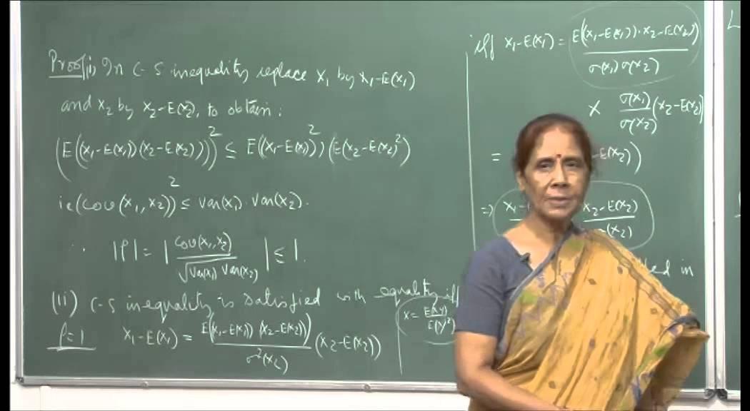 Mod-01 Lec-16 Order statistics, Covariance and correlation