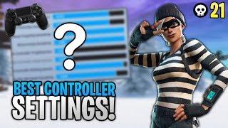 BEST Console Controller Settings + Sensitivity + Deadzone (Fortnite Season 8 PS4/Xbox One)