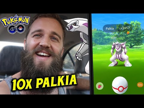 10 EPIC PALKIA ENCOUNTERS (NEW LEGENDARY RAID BOSS) - POKEMON GO GEN 4 RAIDS thumbnail
