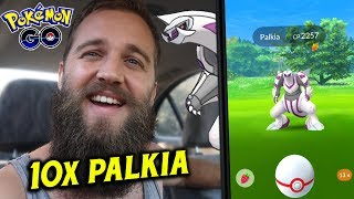 10 EPIC PALKIA ENCOUNTERS (NEW LEGENDARY RAID BOSS) - POKEMON GO GEN 4 RAIDS