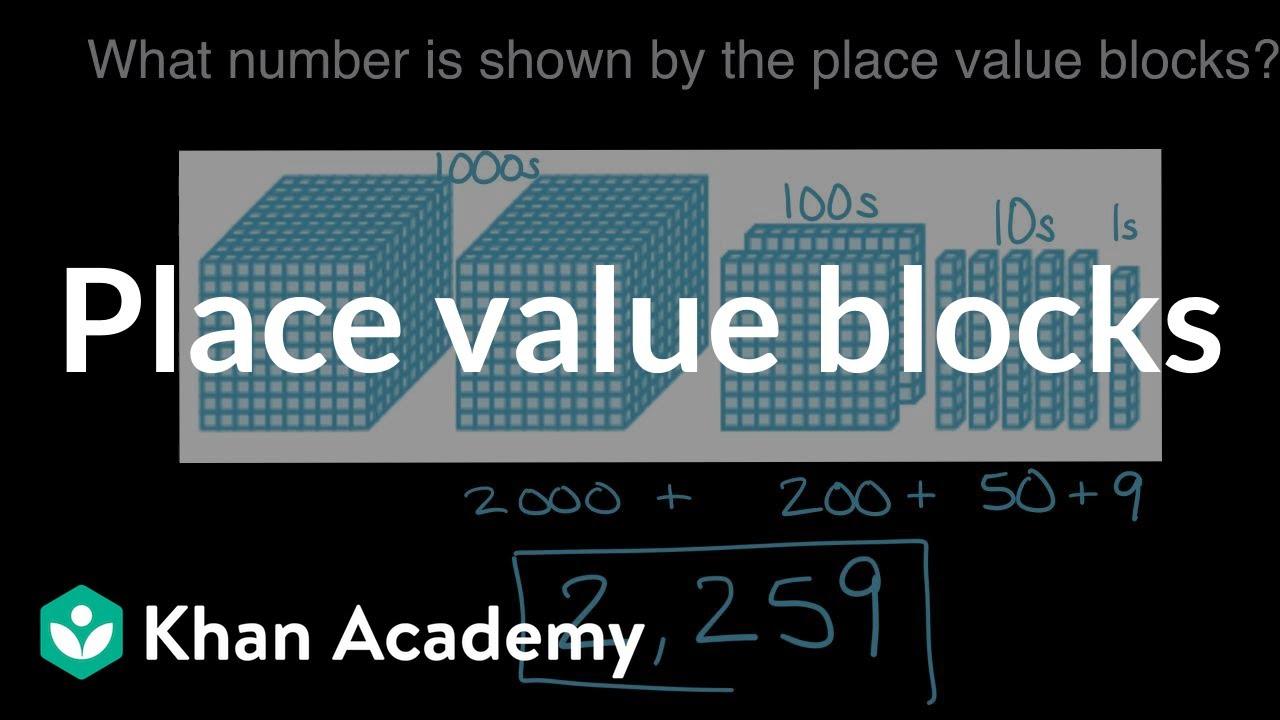 Place value blocks (video)   Place value   Khan Academy [ 720 x 1280 Pixel ]