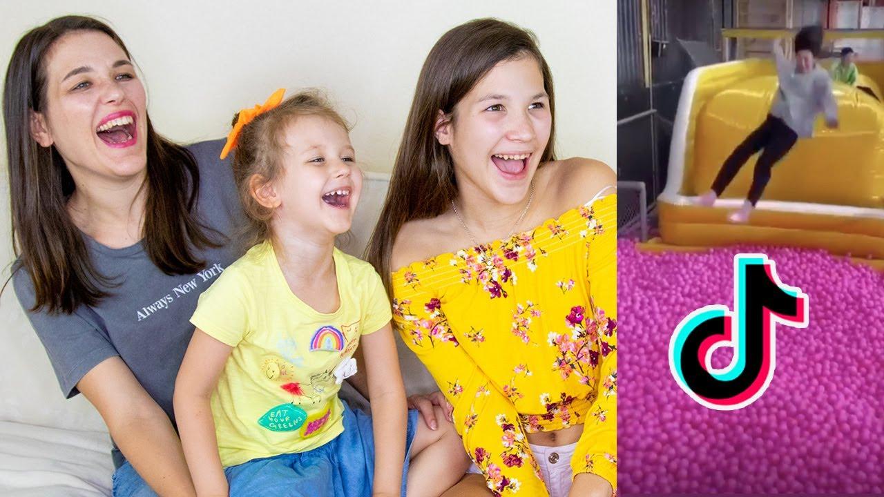 REACCIONANDO A LOS TIKTOKS QUE DANIELA PIENSA QUE SON GRACIOSOS | Yippee Family