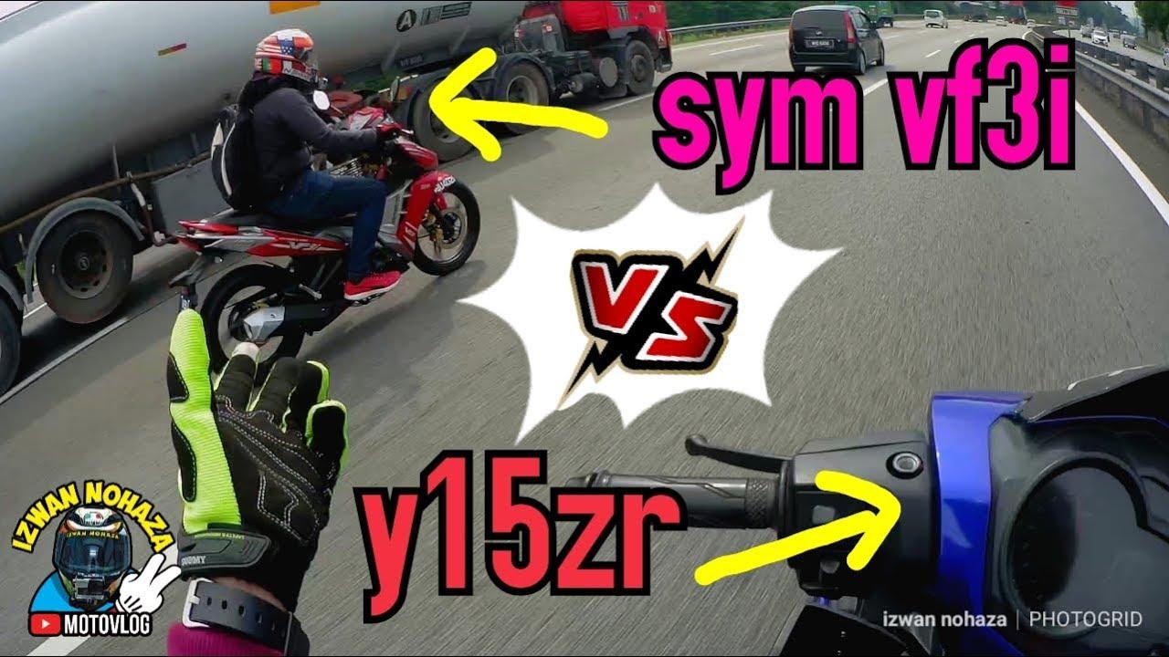 YAMAHA Y15ZR VS SYM VF3I | STANDARD TOPSPEED COMPARISON