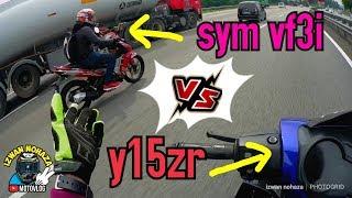 YAMAHA Y15ZR VS SYM VF3I   STANDARD TOPSPEED COMPARISON