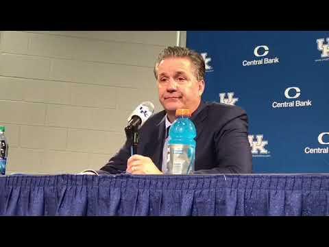 Kentucky coach John Calipari on Win Over Vermont
