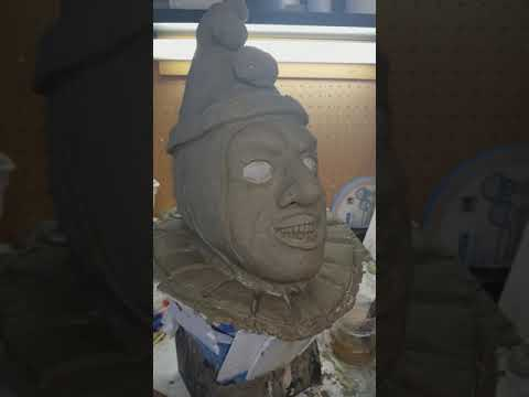 John Wayne Gacy aka pogo the clown mask sculpture