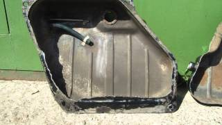 видео Очистка бензобака от ржавчины при помощи электролиза