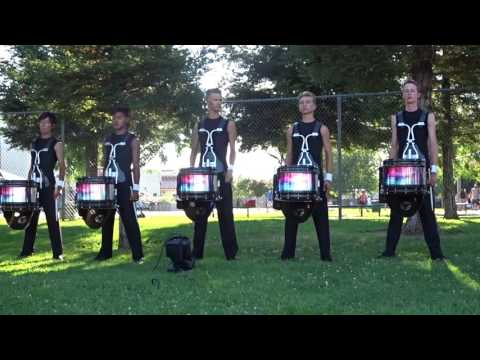 Blue Devils B corps snares 2017 in the lot at Elk Grove 07/07/2017