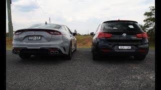 2018 Kia Stinger V6 vs BMW M140i: Exhaust sound comparison