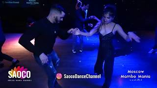 Ernesto Bulnes and Irina Mikhalkina Salsa Dancing at 2nd Moscow MamboMania weekend, Sat 09.03.2019